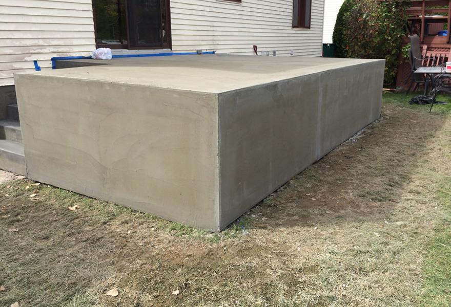 finition terrasse beton terrasse beton empreinte bois with finition terrasse beton awesome. Black Bedroom Furniture Sets. Home Design Ideas
